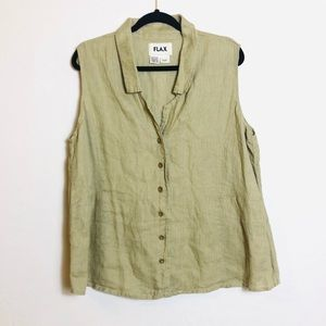 Flax lagenlook button down shirt